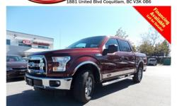 Trans Automatic 2015 Ford F150 4X4 with alloy wheels, fog lights, running boards, tinted rear windows, keypad entry, power locks/windows/mirrors,steering wheel media control, Bluetooth, A/C, CD player, AM/FM stereo, rear defrost and so much more! STK #