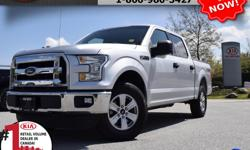 """Make Ford Model F-150 SuperCrew Year 2015 Colour White Trans Automatic We are Canada's #1 KIA Retail Volume Dealer. Our volume purchasing power saves you money! Our motto """"we can replace vehicles, we cannot replace our customers!"""" is the reason we sell"""