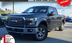 """Make Ford Model F-150 Year 2015 Colour Grey Trans Automatic We are Canada's #1 KIA Retail Volume Dealer. Our volume purchasing power saves you money! Our motto """"we can replace vehicles, we cannot replace our customers!"""" is the reason we sell more new"""