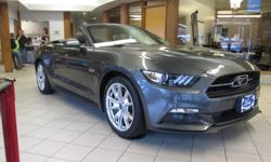 """Make Ford Model Mustang Colour GRAY Trans Automatic kms 5623 2015 FORD MUSTANG GT Price $ 43988 * Stock # 5F1E94027A Exterior Colour: GRAY Odometer: 5623 V8 Engine Rear Wheel Drive ABS Brakes Air Conditioning 19"""" Alloy Wheels Aluminum Wheels Automatic"""