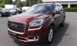 Make GMC Model Acadia Year 2015 Colour RED kms 5800 Trans Automatic 2015 GMC ACADIA AWD SLE FOR SALE.... JUST ARRIVED.... LOW KILOMETRES.....ALL WHEEL DRIVE....POWER LIFT GATE....REMOTE START....8 WAY POWER DRIVERS SEAT....ULTRASONIC REAR PARK