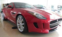 Make Jaguar Colour RACING_RED Trans Automatic kms 327 2015 JAGUAR F-TYPE S Price $ 88800 * Stock # PJAK20358 Odometer: 327 Exterior Colour: RACING_RED Interior Colour: JET Certified Pre-Owned 6-Cylinder Engine Rear Wheel Drive ABS Brakes Air Conditioning