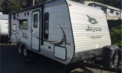 Price: $22,900 Stock Number: 930780-4258 VIN: 1UJBJ0BM9F7TE0166 The Jay Flight 23MB travel trailer by Jayco offers a rear double bunk bed. As you enter the travel trailer, to the left there is a u-dinette. Next to the dinette you will find a double bunk