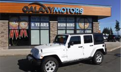 Make Jeep Model Wrangler Unlimited Year 2015 Colour White kms 79728 Trans Automatic Price: $32,995 Stock Number: P23782B VIN: 1C4BJWEGXFL617931 Interior Colour: Black Engine: 3.6L PENTASTAR VVT V6 Cylinders: 6 Leather Wrapped Steering Wheel, 4x4, Alloy