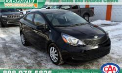 Make Kia Model Rio Year 2015 Colour Black kms 20618 Trans Manual Price: $13,886 Stock Number: 6469A Engine: 1.6L 4 cyls Cylinders: 4 Fuel: Gasoline INTERESTED? TEXT 3062016848 WITH 6469A FOR MORE INFORMATION! $13886 - 2015 Kia Rio LX - - Just Arrived!!