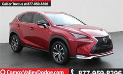 Make Lexus Model Nx 200T Year 2015 Colour red kms 44956 Trans Automatic This 2.0L, 4-cylinder, 6 speed automatic, AWD, SUV seats 5 and is equipped with keyless entry, AM/FM/CD/12V/USB/110W/Bluetooth w/steering wheel mounted audio controls, sunroof, back