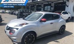 Make Nissan Model Juke Year 2015 Colour Grey kms 49461 Trans Automatic Price: $17,995 Stock Number: ZA0185 VIN: JN8DF5MV5FT250185 Interior Colour: Black Engine: 1.6L 4 Cylinder Engine Fuel: Gasoline Navigation, Bluetooth, Heated Seats, Premium Sound