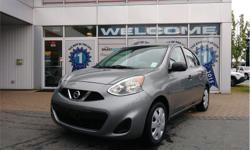 Make Nissan Model Micra Year 2015 Colour Grey kms 46090 Trans Automatic Price: $9,998 Stock Number: D24066A VIN: 3N1CK3CP9FL236324 Interior Colour: Black Engine: 1.6L DOHC 16-Valve 4-Cylinder Cylinders: 4 Fuel: Gasoline BC Only, Manual Windows, CD Player,