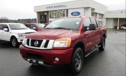 Make Nissan Model Titan Year 2015 Colour Cayenne Red Metallic kms 34787 Price: $29,977 Stock Number: 94080 VIN: 1N6AA0EC9FN505192 Interior Colour: Black Leather Engine: 5.6L V8 Cylinder Engine Leather heated seats, five and a half foot box that is lined