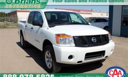 Make Nissan Model Titan Year 2015 Colour White kms 32747 Trans Automatic Price: $34,995 Stock Number: 6706A Interior Colour: Grey Engine: 5.6L V8 Cylinders: 8 Fuel: Gasoline INTERESTED? TEXT 3062016848 WITH 6706A FOR MORE INFORMATION! $34995 - Comes with