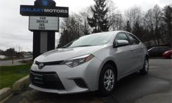 Make Toyota Model Corolla Year 2015 Colour Silver kms 40653 Trans Automatic Price: $16,888 Stock Number: V19566 Interior Colour: Grey Engine: 1.8L 4 Cylinder 16-Valve DOHC -inc: dual variable Cylinders: 4 Fuel: Gasoline Remote Keyless Entry, A/C, Heated