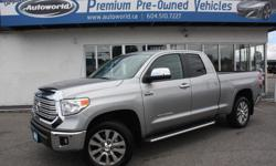 Make Toyota Model Tundra Year 2015 Colour Silver Sky Metallic kms 5686 Trans Automatic 2015 Toyota Tundra Limited Double Cab 4WD Local Vehicle, One Owner, No Accidents, Only 5686KM! , Very Rare! Wont Find A Nicer Truck! 20 Inch Wheels, Navigation, Back Up