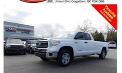 Trans Automatic 2015 Toyota Tundra SR5 5.7L V8 4X4 has tinted rear windows, power locks/windows/mirrors, steering wheel media controls, Bluetooth, backup camera, A/C, CD player, AM/FM stereo and so much more! STK # PP0098 DEALER #31228 Need to finance?