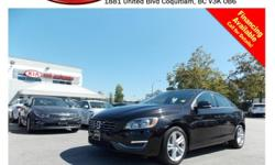 Trans Automatic This 2015 Volvo S60 T5 Premier Plus comes with alloy wheels, fog lights, dual exhaust, leather interior, power locks/windows/mirrors/seats, steering wheel controls, sunroof, backup camera, dual control heated seats, heated steering wheel,