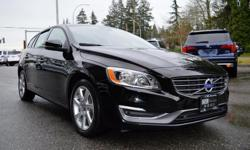 Make Volvo Model V60 Year 2015 Colour Black kms 106630 Trans Automatic *NEW YEAR SALE* - $1,000 OFF - Beautiful All-Wheel Drive Wagon Perfect For Winter and The Family! Local BC Vehicle, Zero Accidents & The Balance of Factory Warranty. Options include: