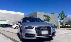 Make Audi Model A3 Year 2016 Colour Florett Silver kms 1900 Trans Automatic Vehicle just arrived Wednesday evening June 16, 2016, previous customer is upgrading to A4 Allroad to arrive in Fall. Florett Silver exterior Black interior Technik: MMI