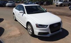 Make Audi Model A4 Year 2016 Colour WHITE kms 15000 Trans Automatic 2016 Audi A4 Progressiv plus AWD 4dr Sdn Auto Progressiv plus Quattro 4 Cylinder Engine 2.0L ONLY 15,000 KM A1 AUTO SALES 3925 Route 1A Travellers Rest Summerside P.E call Ridvan