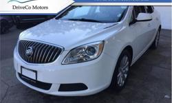 Make Buick Model Verano Year 2016 Colour White kms 40904 Trans Automatic Price: $14,888 Stock Number: DMC9526A VIN: 1G4P15SK1G4148762 Interior Colour: Grey Engine: 180HP 2.4L 4 Cylinder Engine Cylinders: 4 Fuel: Gasoline Cruise Control, Remote Keyless