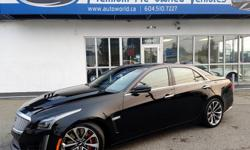 Make Cadillac Model CTS-V Year 2016 Colour Raven Black kms 11106 Trans Automatic This supersedan capable of a claimed 200MPH boasts a 640HP 6.2L V8 engine also found in the Corvette Z06! This vehicle includes, Brembo Red Brakes, 8-Speed Automatic