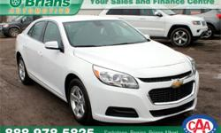 Make Chevrolet Model Malibu Year 2016 Colour White kms 37302 Trans Automatic Price: $21,877 Stock Number: 6552A Engine: 2.5L 4 cyls Cylinders: 4 Fuel: Gasoline INTERESTED? TEXT 3062016848 WITH 6552A FOR MORE INFORMATION! $21877 -Comes with remainder of
