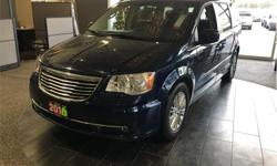 Make Chrysler Model Town & Country Year 2016 Colour Blue kms 107961 Trans Automatic Price: $19,995 Stock Number: 18182A VIN: 2C4RC1CG1GR126767 Engine: 3.6L Pentastar VVT V6 Leather heated seats. Reverse parking camera. Touchscreen entertainment. Power