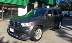 Make Dodge Model Durango Year 2016 Colour Grey kms 42000 Trans Automatic Price: $31,998 Stock Number: T8613 Interior Colour: Black Cylinders: 6 - Cyl Fuel: Gasoline 2016 Dodge Durango Limited 3.6 V6 AWD 7 Sseats Luxury SUV. leather, sunroof, DVD players,