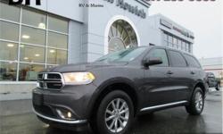 Make Dodge Model Durango Year 2016 Colour Grey kms 51759 Trans Automatic Price: $32,670 Stock Number: P2869 VIN: 1C4RDJAG5GC433349 Interior Colour: Black Engine: 3.6L Pentastar VVT V6 w/ESS Fuel: Regular Unleaded Proximity Key, Wireless Streaming,
