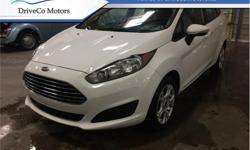 Make Ford Model Fiesta Year 2016 Colour White kms 70232 Trans Automatic Price: $12,999 Stock Number: DE1861A VIN: 3FADP4BJ8GM109474 Interior Colour: Black Engine: 1.6L 4 Cylinder Engine Cylinders: 4 Fuel: Gasoline Bluetooth, SYNC, Air Conditioning, Soft