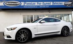 Make Ford Model Mustang Year 2016 Colour White kms 6050 Trans Manual Drive away in this sweet 2016 Ford Mustang GT 5.0L, pumping out 435 hp and 400 lb-ft of torque! With a very low count of just over 6000 kilometers, you are sure to have a blast in