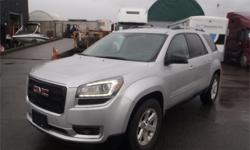 Make GMC Model Acadia Year 2016 Colour Silver kms 5003 Price: $33,220 Stock Number: BC0027072 Interior Colour: Black Cylinders: 6 Fuel: Gasoline 2016 GMC Acadia SLE-1 AWD, 3rd row seating, 3.6L, 6 cylinder, 4 door, automatic, AWD, 4-Wheel ABS, cruise