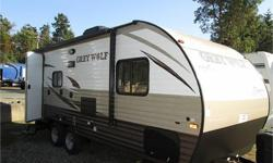 Price: $24,000 Stock Number: 11117778 brand new 2016 21bhs grey wolf by forest river , one of are best selling floor plans , elec awning , elec front jack , large shower in rear .