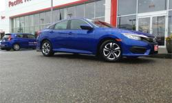 Make Honda Model Civic Sedan Year 2016 Colour Blue kms 15000 Price: $19,500 Stock Number: 1399A Interior Colour: Black Fuel: Gasoline This local 1 owner 2016 new body style Honda civic lx was traded in in perfect condition for a larger car. All 4 brakes