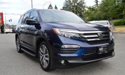 Make Honda Model Pilot Year 2016 Colour Blue kms 49025 Trans Automatic *NEW YEAR SALE* - $6,000 OFF - ONE OWNER, LOCAL BC VEHICLE, WITH ZERO ACCIDENTS AND FULLY LOADED!!! Navigation, Backup Camera, Heated Front & Rear Leather Seats, Dual Power Sunroof,