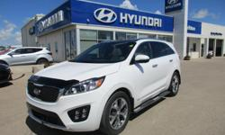 Make Kia Model Sorento Year 2016 Colour White kms 16726 Trans Automatic OPTIONS: air, tilt, cruise, alloy wheels, 7-passenger seating, AM/FM/CD/MP3, ABS brakes, auto on/off headlamps, auto-dimming r/v mirror, back-up camera & sensors, bluetooth, chrome