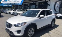 Make Mazda Model CX-5 Year 2016 Colour White kms 48836 Trans Automatic Price: $23,338 Stock Number: ZA5454 VIN: JM3KE4BE0G0785454 Engine: 155HP 2.0L 4 Cylinder Engine Fuel: Gasoline Air Conditioning, Steering Wheel Audio Control, Remote Keyless Entry,