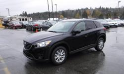 Make Mazda Model CX-5 Year 2016 Colour Black kms 57762 Trans Automatic Stock #: BC0030694 VIN: JM3KE4BE9G0777689 2016 Mazda CX-5 Sport AWD, 2.5L, 4 cylinder, 4 door, automatic, AWD, 4-Wheel ABS, cruise control, air conditioning, AM/FM radio, CD player,