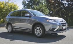 "Make Mitsubishi Model Outlander Colour GRAY Trans Automatic kms 10062 2016 MITSUBISHI OUTLANDER ES Price $ 27988 * Stock # BOU603296 Exterior Colour: GRAY Odometer: 10062 4-Cylinder Engine Front Wheel Drive Air Conditioning 16"" Alloy Wheels Aluminum"
