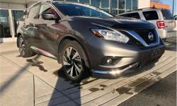 Make Nissan Model Murano Year 2016 kms 21543 Price: $33,980 Stock Number: 584941 VIN: 5N1AZ2MH2GN137021 Interior Colour: Black Engine: 3.5L V6 Engine Configuration: V-shape Cylinders: 6 Fuel: Regular Unleaded Accident-Free, Smoke-Free, Factory Warranty