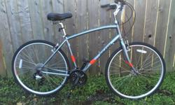 *20 inch aluminum frame (we will be getting more sizes) *21 speed Shimano drive train *Comfortable upright riding position *Cruiser saddle *V-brakes *An affordable and comfort oriented hybrid. *Comes with a 6 month warranty.