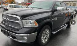 Make Ram Model 1500 Year 2016 Colour black kms 91224 Trans Automatic Highlighted Features Navigation system Leather upholstery Automatic temperature control Wireless phone connectivity Exterior parking camera rear Front dual zone A/C Auto-dimming rearview