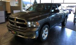 Make Ram Model 1500 Year 2016 Colour Grey kms 59988 Trans Automatic Price: $33,590 Stock Number: 18189A VIN: 1C6RR7LT5GS353898 Interior Colour: Grey Engine: 5.7L HEMI VVT V8 w/FuelSaver MDS Fuel: Gasoline Fold up rear seat. Seats 6. Satellite radio.