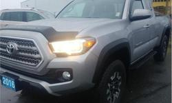 Make Toyota Model Tacoma Year 2016 Colour Silver kms 50236 Trans Automatic Price: $33,995 Stock Number: S5109A VIN: 5TFSZ5AN6GX007428 Interior Colour: Black Engine: 3.5L V6 Engine Configuration: V-shape Cylinders: 6 Fuel: Regular Unleaded KBB.com Best
