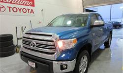 Make Toyota Model Tundra Year 2016 Colour Blue kms 39618 Trans Automatic Price: $36,995 Stock Number: 20401AX VIN: 5TFUY5F18GX559675 Interior Colour: Black Cylinders: 8 Call us toll-free at 1 877 295-1367