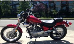 2016 Yamaha V-Star 250 Cruiser Motorcycle * Easy To Ride. Lightweight Bike. * $4199. Light-weight, easy to ride, and authentic V-twin motor. Inexpensive insurance, running and maintenance costs. Perfect for the commuter or initiate. Colour: Red. Buy with