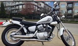 2016 Yamaha V-Star 250 Cruiser * Student or Initiate Deal * $3999. Great bike for the in-town commuter or initiate. Easy on gas, cheap insurance, cheap maintenance. V-twin power in small, light bike. Colour: White. Buy with confidence from a Genuine