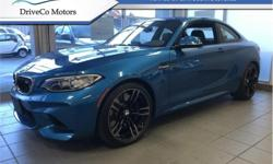 Make BMW Model M Year 2017 Colour Long Beach Blue Metallic kms 1032 Trans Manual Price: $59,888 Stock Number: A6873 VIN: WBS1H9C54HV886873 Interior Colour: Black Engine: 365HP 3.0L Straight 6 Cylinder Engine Fuel: Gasoline BMWs pint-sized M2 , swift, and