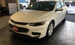 Make Chevrolet Model Malibu Year 2017 Colour White kms 40204 Trans Automatic Price: $19,900 Stock Number: 18187A VIN: 1G1ZE5ST9HF101231 Interior Colour: Black Engine: 1.5L Turbo DOHC 4-Cylinder DI w/VVT Fuel: Gasoline Backup camera. Steering wheel audio