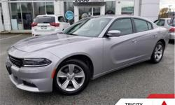 Make Dodge Model Charger Year 2017 Colour Grey Med kms 44416 Trans Automatic Price: $26,995 Stock Number: TC4228 VIN: 2C3CDXHG0HH654228 Engine: 292HP 3.6L V6 Cylinder Engine Fuel: Gasoline Bluetooth, Premium Sound Package, Heated Seats, Remote Start,