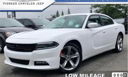 Make Dodge Model Charger Year 2017 Colour White kms 18213 Trans Automatic Price: $26,849 Stock Number: AC3095 VIN: 2C3CDXHG6HH623095 Engine: 292HP 3.6L V6 Cylinder Engine Fuel: Gasoline Low Mileage, Bluetooth, Premium Sound Package, Heated Seats, Remote