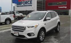 Make Ford Model Escape Year 2017 Colour White kms 33606 Trans Automatic Price: $31,980 Stock Number: 133370 VIN: 1FMCU9J99HUA00856 Interior Colour: Black Cylinders: 4 - Cyl Fuel: Gasoline This 2017 Ford Escape Titanium 5 Passenger 4X4 SUV comes with a